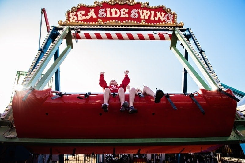 Family Photography, little kids on carnival ride