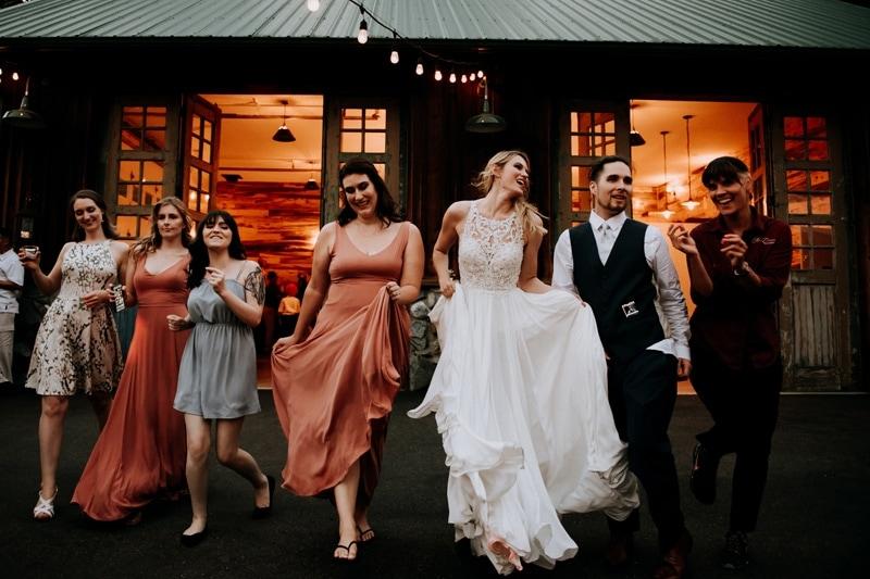 Vancouver Photo studio, wedding party dancing at reception