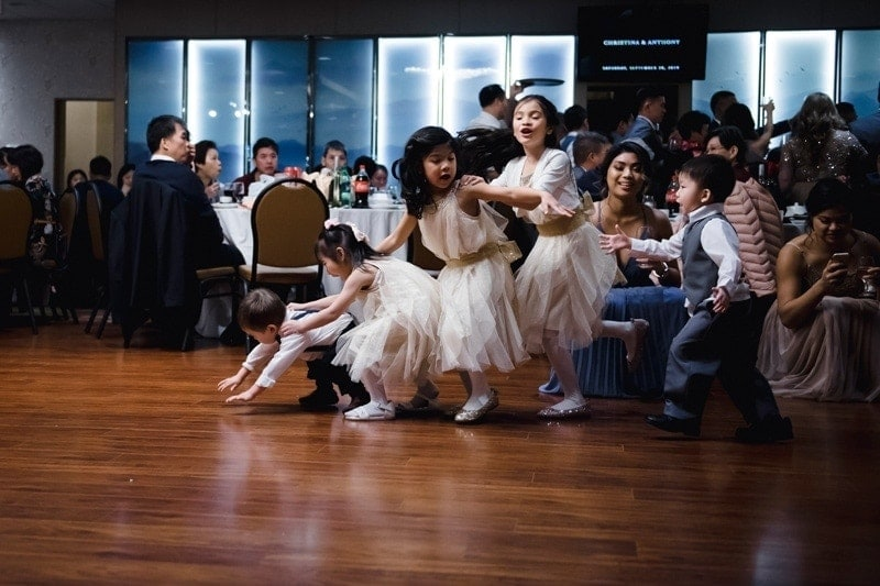 Wedding Photography, little kids dancing together at reception