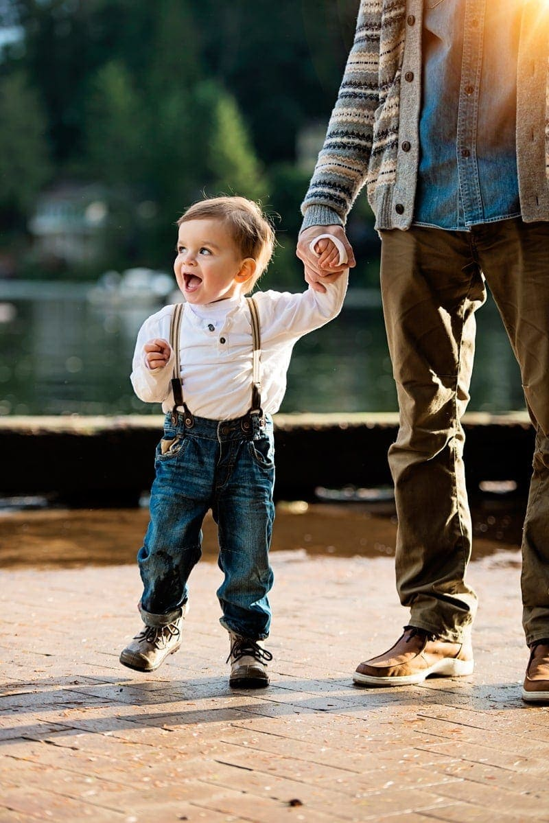 Family Photography, father and son holding hands